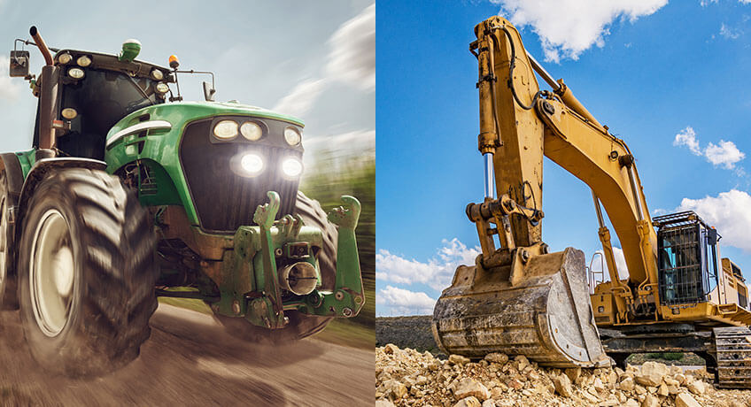 Offroad: Agricultural, construction and mining vehicles